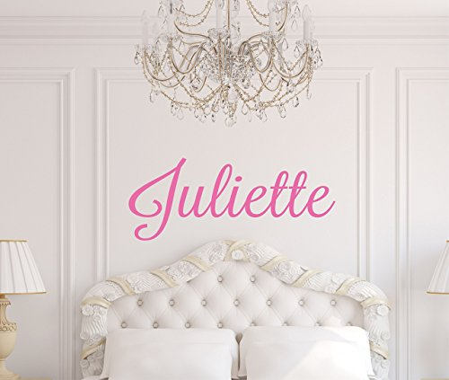 Childrens Wall Decal - Name Wall Decal - Custom Monogram Vinyl Wall Art - Name Vinyl Lettering (Monogram Wall Art)