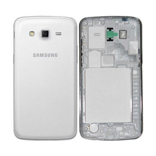 DigiDyne Full Body Housing and Back Panel Replacement for Samsung Galaxy Grand 2 7102 White Color