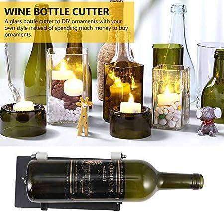 MILISTEN Cortador de Botella de Vino Botella de Corte Diy Máquina Herramienta de Corte de Vidrio para Cortar Vino Cuadrado Cerveza Licor Whisky Botella de Champán