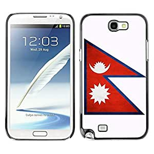 Shell-Star ( National Flag Series-Nepal ) Snap On Hard Protective Case For Samsung Galaxy Note 2 II / N7100