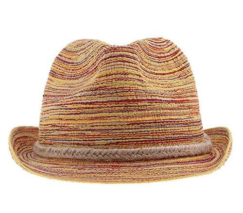 ACVIP Women Summer Handmade Hemp Woven Straw Bucket Hats Chocolate