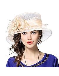 JESSE · RENA Lady Derby Dress Church Cloche Hat Bucket Wedding Bowler Hats CS065