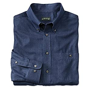 Orvis Men's Wrinkle-Free Pure Cotton Denim Shirt