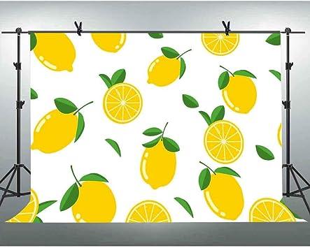 10x8ft Fresh Lemon Background Photography Backdrop Photo Studio Props Wall Murals LHFU132