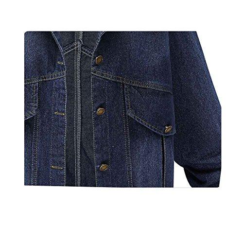 Sml Blu Lavare Donne scuro Manica Leggera Giubbotto 2xl Fidanzato 1145 Sobrisah Xl Denim Vintage Sbiadito Lunga Ragazze Di Jeans OSax0wqR