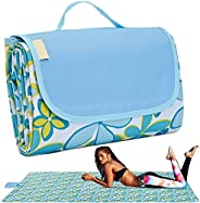 """BIPASION Outdoor Picnic Blanket, 57""""x 79"""" Extra Large Beach Mat Sandproof and Waterproof, Foldable C"""