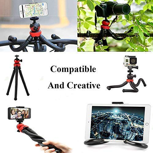 Zedoli Phone//Camera Tripod Sports Camera GoPro 3 in 1 12 Flexible Tripod with Bluetooth Remote and Universal Phone Clip Tripod Compatible iPhone Camera Waterproof Android Phone