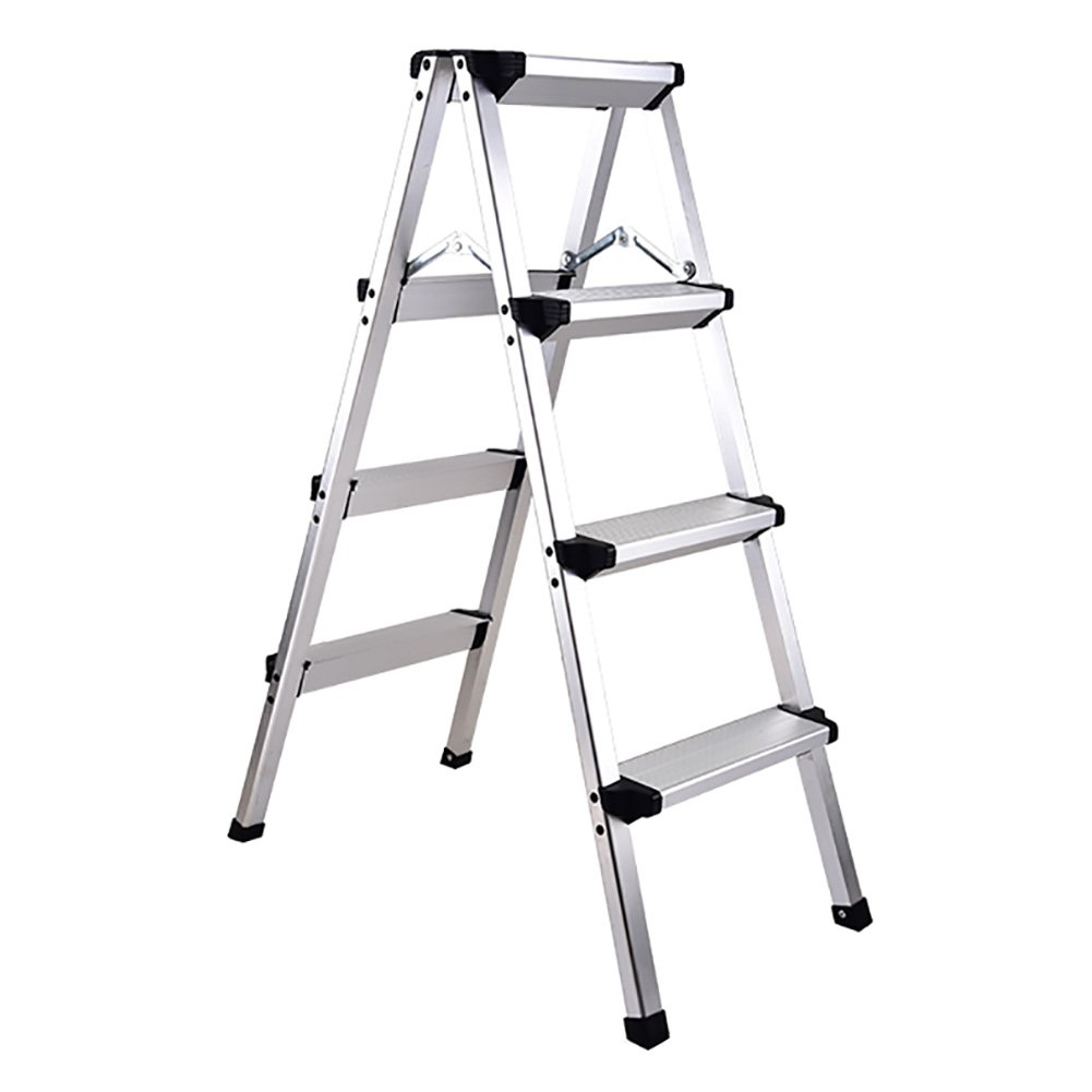 LXF ステップスツール 折りたたみ可能なはしごのスツールアルミニウム合金工学のはしごポータブル多機能の階段屋内滑り止め (サイズ さいず : 4 step ladder) B07FPK7YCD 4 step ladder
