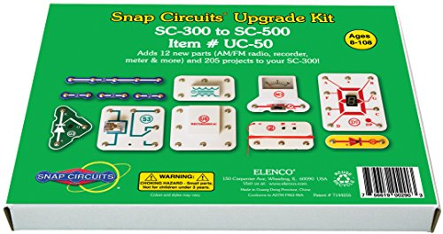 Snap Circuits Upgrade - Snap Circuits UC-50 Electronics Exploration Upgrade Kit | SC-300 to SC-500 | Upgrade Classic to Pro