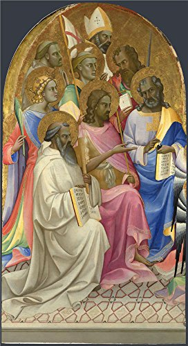 [Oil Painting 'Lorenzo Monaco-Adoring Saints Left Main Tier Panel,1407-9,', 16 x 29 inch / 41 x 75 cm , on High Definition HD canvas prints is for Gifts And Basement, Garage And Study Room] (Jessica Rabbit Costumes Ideas)