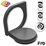 Phone Ring Holder, Ring Spinner, 360°Rotation Cell Phone Finger Ring Stand Holder with Great Finger Grip for iPhone 7/ 7Plus 6/ 6s Plus, Samsung Galaxy, Huawei, Xiaomi, Sony, LG (Black)