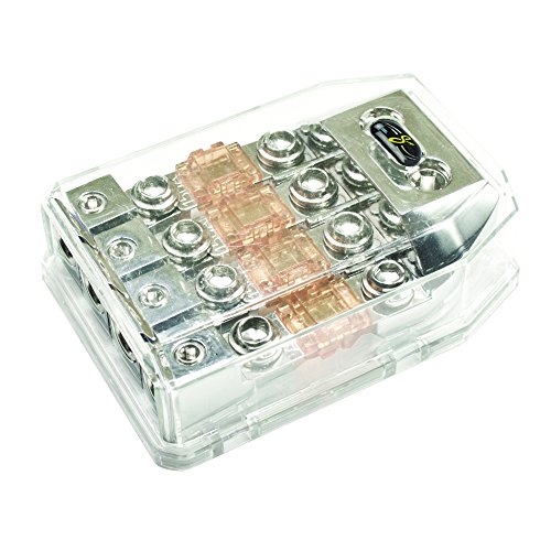 Stinger SHD821 HPM Series MANL/MIDI Fused Power Distribution Block with Satin Chrome - Series Hpm