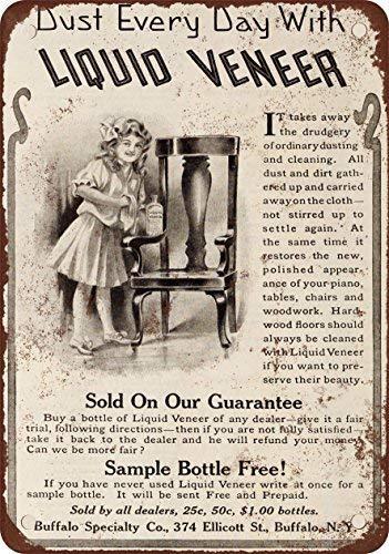 FVBD 1910 líquido revestimiento Muebles Cleaner, diseño clásico de reproducción Metal tin Sign 30,5 x 45,7 cm