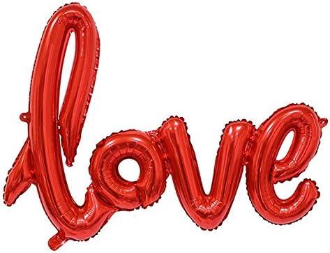 Doitsa 風船 バルーン アルミ風船 love 飾り付け 誕生日 結婚式 バースデーパーティー アニバーサリー 赤 1pcs