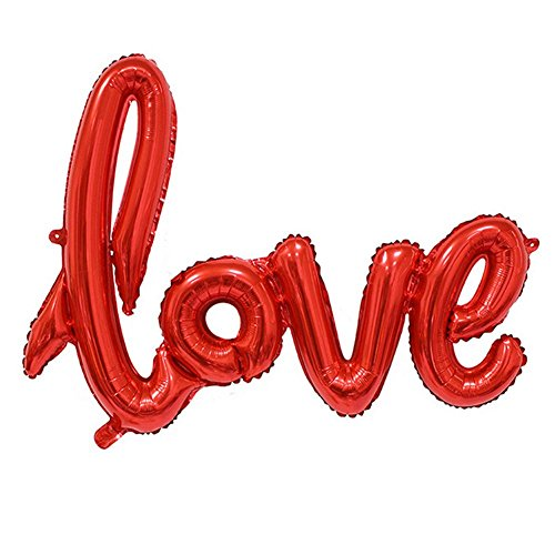 Hosaire Love Balloon Banner 42.5 Inch Long Romantic