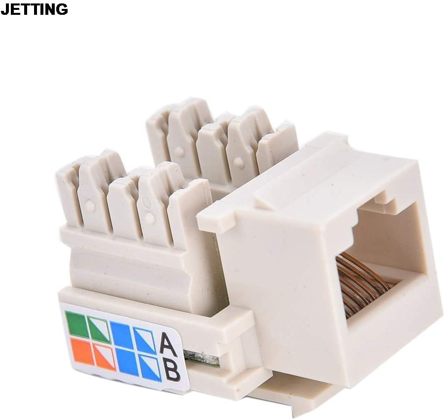 Cable Length: 3cm x 2cm x 2cm Computer Cables Yoton CAT5 RJ45 110 Punch Down Keystone Network Ethernet Jack Yoton Quality