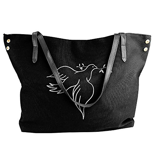 Handbag Olive Branch Bags Messenger Dove Large Black Women's Shoulder Canvas Tote With cWH6n18A0