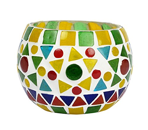 (Lalhaveli Designer Handmade Tea Light Glass Candle Holder Votive Birthday Gift 3 Inches)