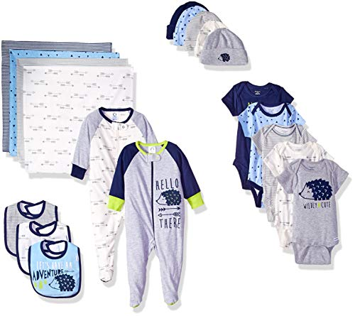 - Gerber Baby Boys' 19-Piece Essentials Gift Set, Hedgehog, Newborn