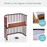 babybay Bedside Sleeper Organic Deluxe Comfort Bundle in Deep Walnut