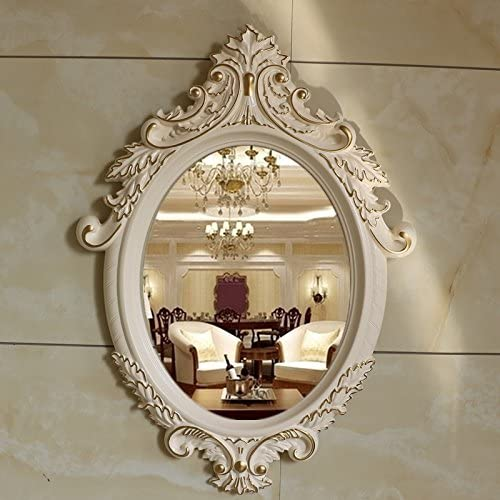 mangeoo de estilo europeo espejo vestuario, de pared espejo, tocador espejo, Jardín Decoración Espejo, Espejo Baño, Pasillo, Salón de belleza espejo: Amazon.es: Hogar