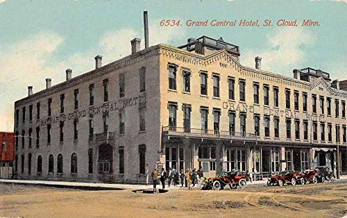St Cloud Minnesota Grand Central Hotel Street View Antique Postcard K105665 -