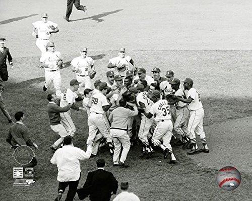 Bob Gibson St. Louis Cardinals 1964 World Series Celebration Photo (Size: 8