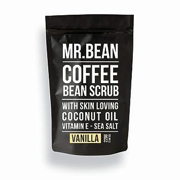 Mr  Bean Organic All Natural Coffee Bean Exfoliating Body Skin Scrub with  Coconut Oil, Vitamin E, and