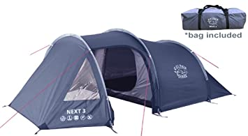GoldenShark NEXT 3 - Portable 3 Person Tent with Large Vestibule 2 Doors Dual Layer  sc 1 st  Amazon.com & Amazon.com : GoldenShark NEXT 3 - Portable 3 Person Tent with ...