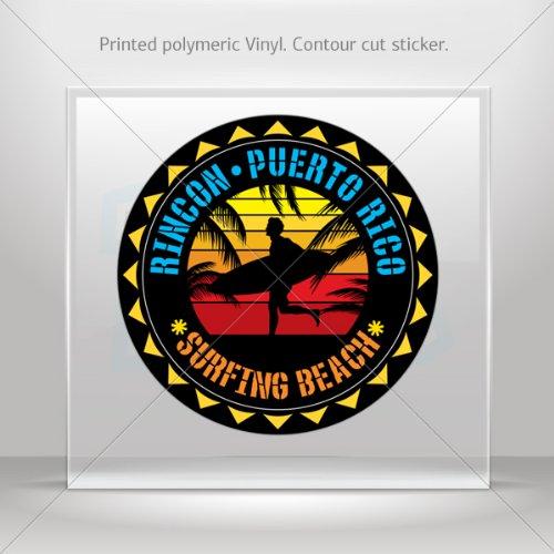 on Puerto Rico Souvenir Memorabilia Surfing Beach Atv Dur (2 X 2 In) ()