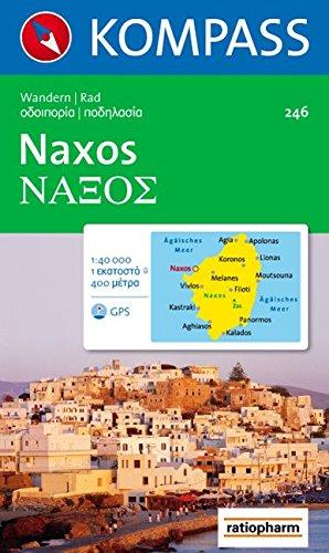 Naxos: Wanderkarte mit Radrouten. GPS-geeignet. 1:40000 (KOMPASS-Wanderkarten, Band 246)