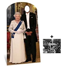 Fan Pack - Queen Elizabeth II Stand-in Lifesize Cardboard Cutout / Standee - Includes 8X10 (25X20Cm) Star Photo