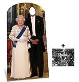 Fan Pack - Queen Elizabeth II Stand-in Lifesize Cardboard Cutout / Standee - Includes 8X10 (25X20Cm) Star Photo