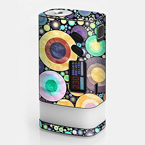 Skin Decal Vinyl Wrap for Sigelei Fuchai Glo 230W tc Vape stickers skins cover/ abstract circle canvas