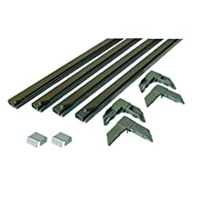 Prime-Line Products PL 7808 Screen Frame Kit, 5/16 in. x 3/4 in. x 60 in., Rolled Aluminum, Bronze, Includes Vinyl Spline & Square-Cut Corners