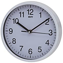 Unity UNSW197 Radcliffe Sweeping Seconds Hand Quiet Wall Clock, White