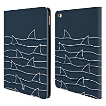 Head Case Designs Lines Shark Prints Leather Book Wallet Case Cover for Apple iPad Air 2