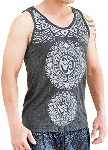 BohoHill Tribal Mandalas Om Unisex Normal Cut Vest Yoga Tank Top (Cool Tribal Tattoos)