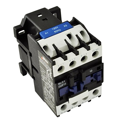 Direct Replacement for TELEMECANIQUE LC1-D25 AC Contactor LC1D25 LC1D2510-G6 120V Coil 3 Phase 3 Pole 25 ()