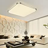 Cherry Juilt 16-inch LED Flush Mount Ceiling Light Square Aluminum for Bedroom Living Room 24w (warm white)