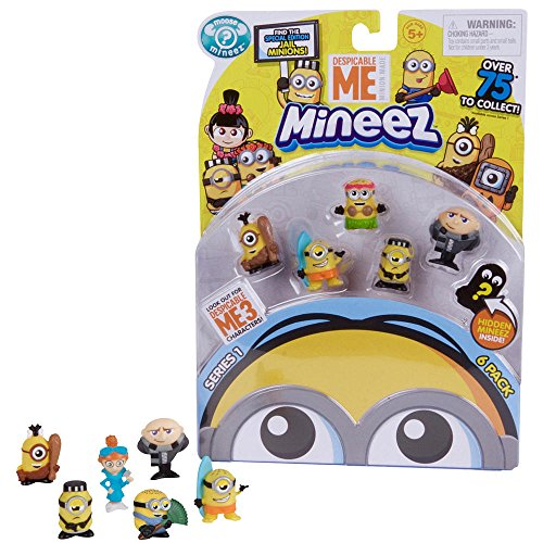 NEW! Moose Toys Despicable Me Mineez SERIES 1 - Deluxe Character 6pk - Collect, Squish and Swap all your Favorite Characters from Despicable -