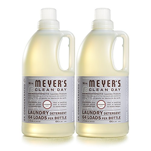 Mrs. Meyer's Clean Day Laundry Detergent, Lavender, 64 fl oz, 2 ct