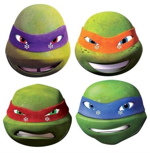 Star Masks Teenage Mutant Ninja Turtles New Series Face Masks (4 Pack) (Ninja Turtles Face)