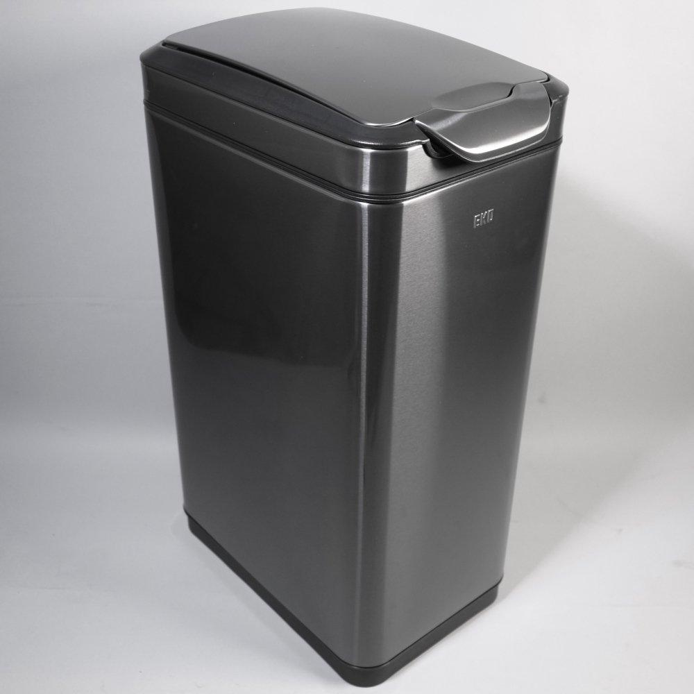 EKO ゴミ箱 ふた付き ダストボックス 30L タッチレバー式 スリム ステンレス おしゃれ ガンメタリック B077XDXGMX
