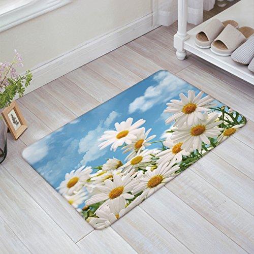 - Home Garden Fabulous Flowers Fresh Sky Daisy Door Mats Kitchen Floor Bath Entrance Rug Mat Absorbent Indoor Bathroom Decor Doormats Rubber Non Slip 18