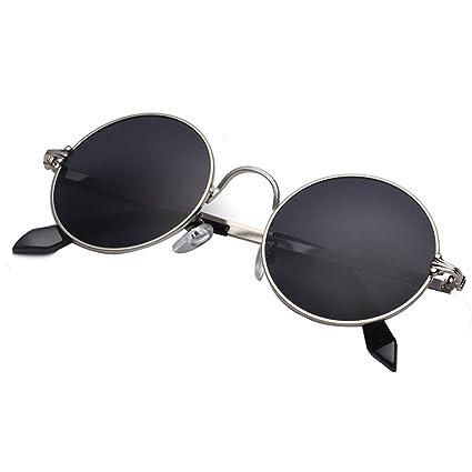 YaNanHome Marco Redondo Prince Mirror Gafas de Sol Redondas ...