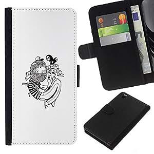 JackGot ( Hipster Tattoo ) HTC DESIRE 816 la tarjeta de Crédito Slots PU Funda de cuero Monedero caso cubierta de piel