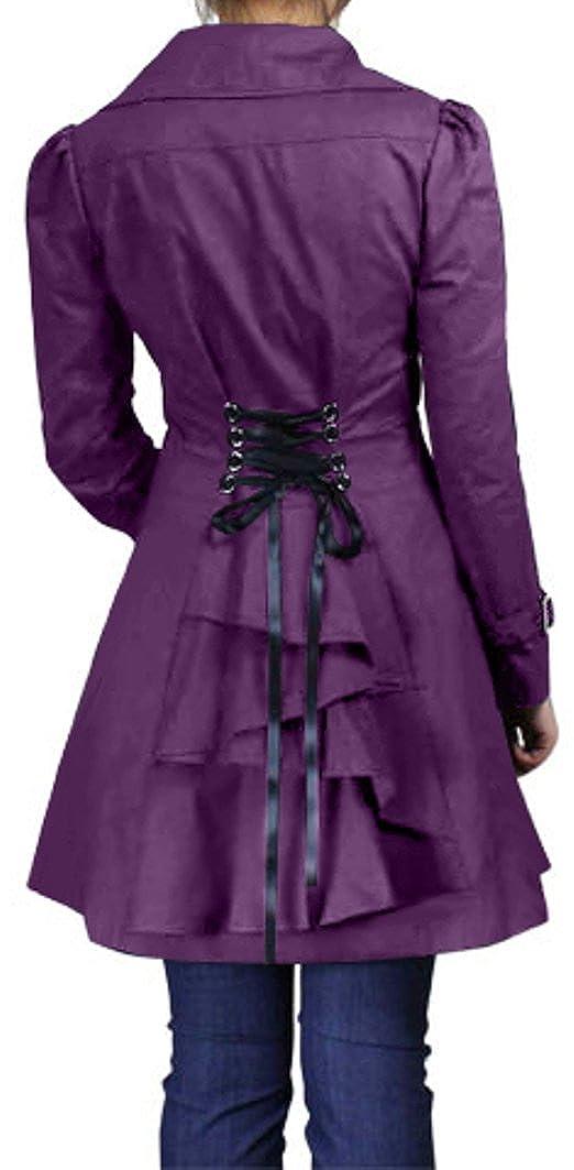 0e121adad2 (XS-28) Rainy Night in Paris - Royal Purple Victorian Gothic Ruffled Corset  Jacket at Amazon Women s Coats Shop