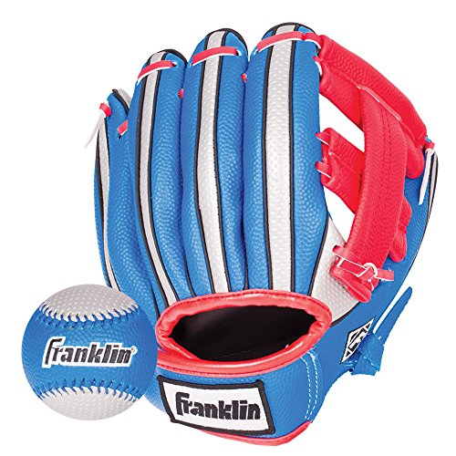Franklin Sports Air Tech Soft Foam Baseball Glove and Ball Set - 9 Inch - Right Hand Throw