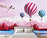 BZDHWWH Custom Wallpaper Cartoon 3D Living Room Sky Fairy Tale Hot Air Balloon Dream Children Room Background 3D Wall Paper,50Cm (H) X 70Cm (W)